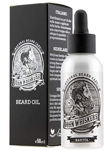 John Whiskers Bartöl Made in Germany - 50ml - beste Qualitätsöle für einen weichen und gesunden Bart -...