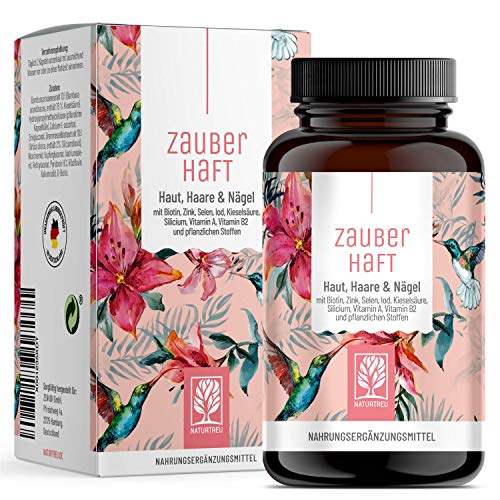 Haar Vitamine - 450mg Silizium hochdosiert & Biotin Zink Selen für Haare - Kieselsäure aus Bambus, Kupfer, Iod, Brennessel und B-Vitamine - 120 Haar Vitamin Kapseln - Vegan aus Deutschland