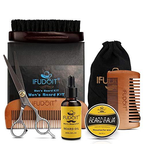 Bartpflege-Set für Männer, 100% Bio-Bartöl, Grooms Bartschnurrbart fördert das Haarwachstum,...