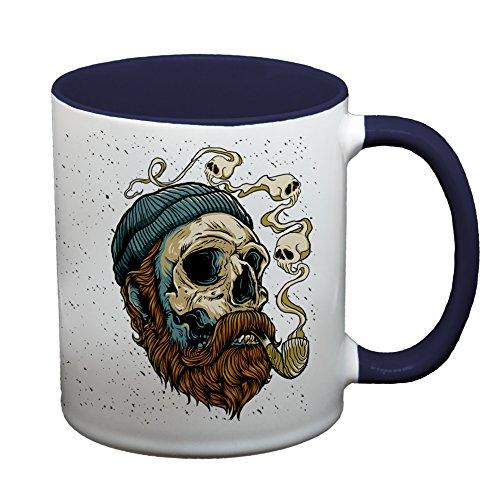 Ma2ca® Seeman Skull Tasse Pirat Becher Kaffeetasse Tasse Becher-innen_Kobaltblau