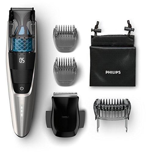 Philips BT7220 / 15 Series 7000 Vakuum Bartschneider, schwarz/silber