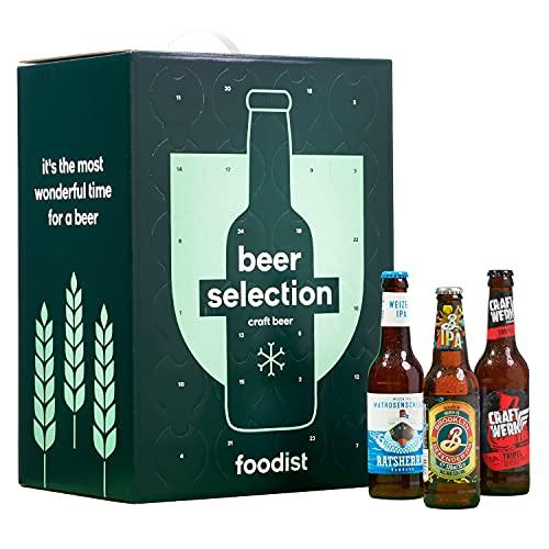 Foodist Premium Bier Adventskalender 2021 - Craft Beere als Geschenk (24 x 0.33l) mit ausgefallenen Biersorten aus der ganzen Welt inkl. Tasting -Anleitung für Männer und Frauen