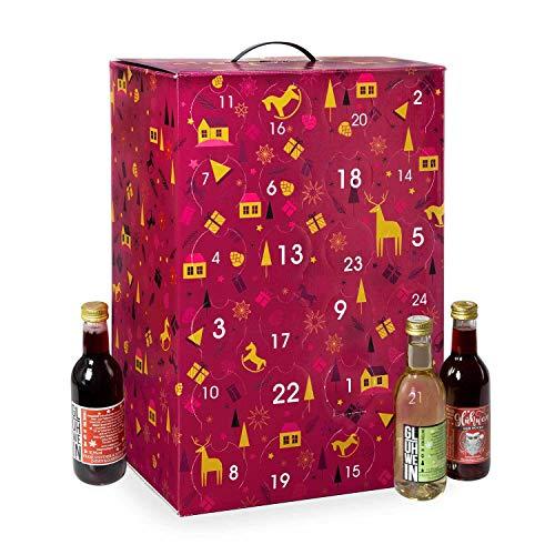 Glühwein Adventskalender, 24 Sorten á 250ml (= 6 Liter) - Pfefferdieb®