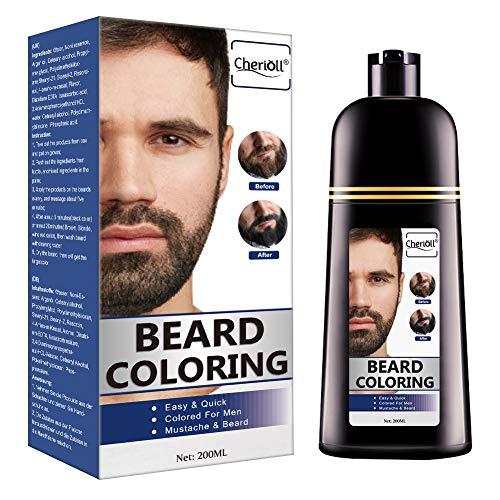Bart-Coloration, Bart Färbung, Bart Und Schurrbart, Schwarzes Haar Shampoo, Gegen Graues Haair,...