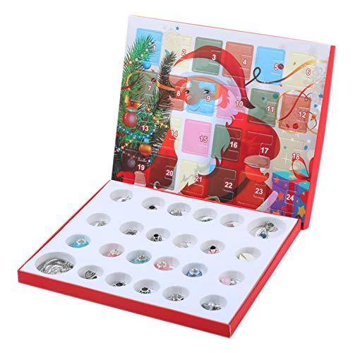 shizuku Adventskalender 2021, Weihnachtskalender Ornament Geschenkbox für Mädchen, Kalender Geschenk-Box Advent DIY Armband Zubehör Set für Kinder und Erwachsene