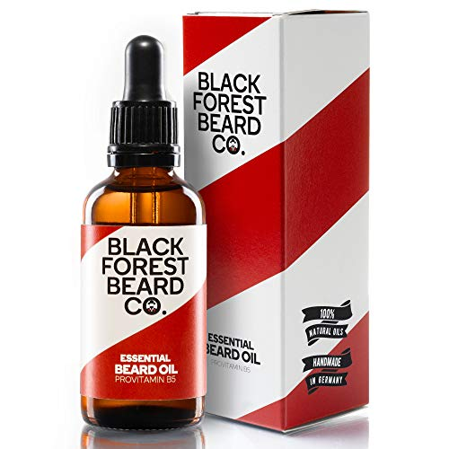 Blackforest Beard Co. Essential Beard Oil Provitamin B5 | Bart-Pflege mit Zeder & Minze Duft | Perfekte...