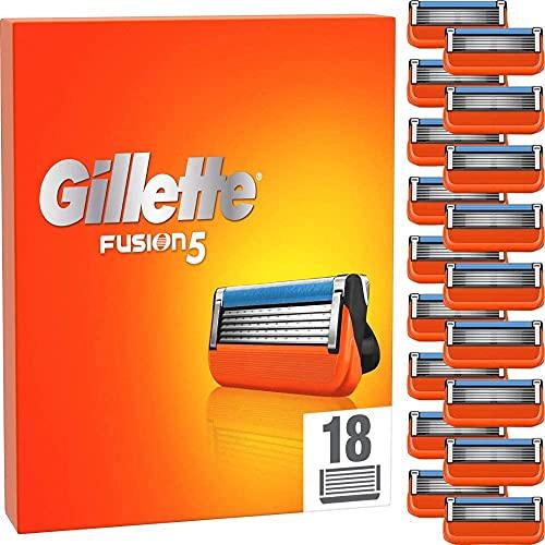 Gillette Fusion 5 Rasierklingen, 18 Ersatzklingen für Nassrasierer Herren mit 5-fach Klinge
