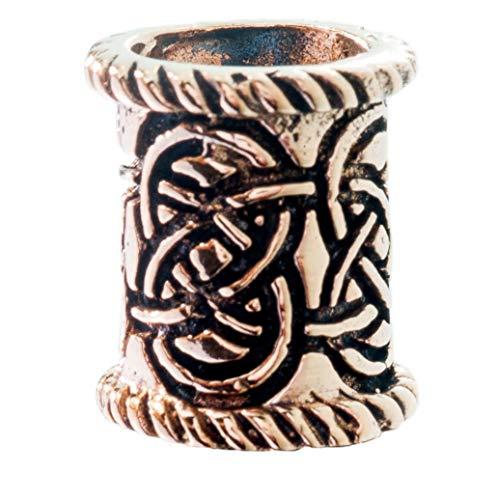 Windalf Keltischer Bartschmuck AJÂNI 14 mm Haarschmuck Pagan Keltischer Knoten edle Bronze