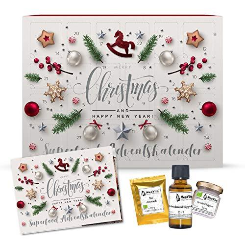 MeaVita Adventskalender Superfoods, Weihnachtskalender mit 24 Überraschungen