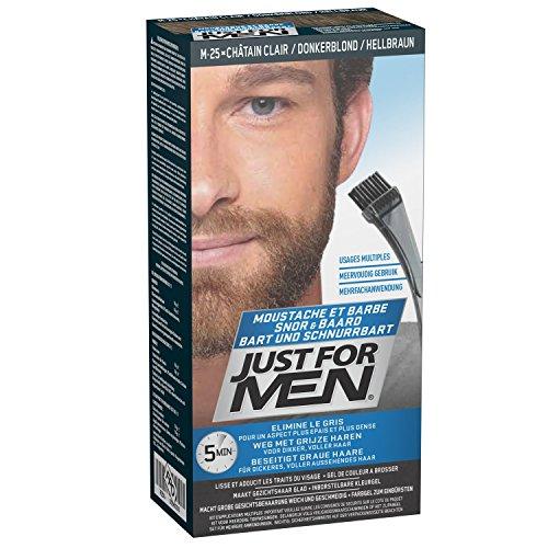Just for men Pflege-Brush-In-Color-Gel für Bart, Schnurrbart, Hellbraun
