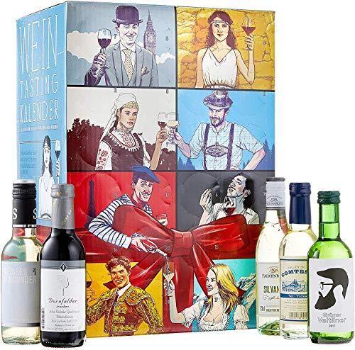 KALEA Wein Tasting Adventskalender, Weinverkostung, 24 ausgewählte Weine aus aller Welt, Rotwein, Weißwein,...