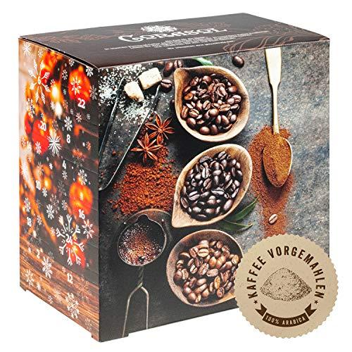Corasol Premium Flavoured Coffee Kaffee-AdventskalenderXL 2021 mit 24 aromatisierten Kaffee-Kreationen, gemahlen für Genießer (240 g)