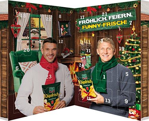 Snack Adventskalender von funny-frisch und Chio im Buchformat - 24 Knabbereien zum Advent, 1er Pack (1 x 620...