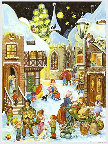 Richard Sellmer Verlag Nostalgischer Papier Adventskalender für Kinder und Erwachsene Wir gehen auf den Markt