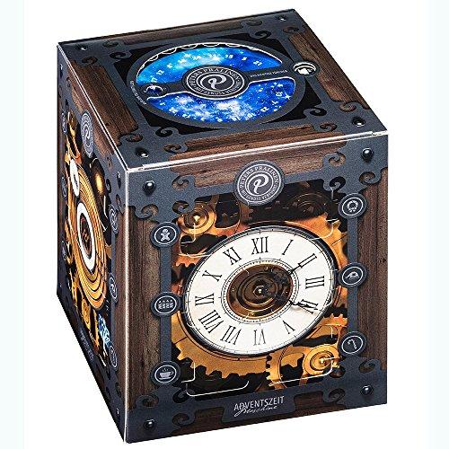 Peters 'Advents-Zeitmaschine' | Pralinen-Adventskalender mit tollen Animationen | außergewöhnlicher Adventskalender im Würfel-Format mit hochwertigen Pralinen
