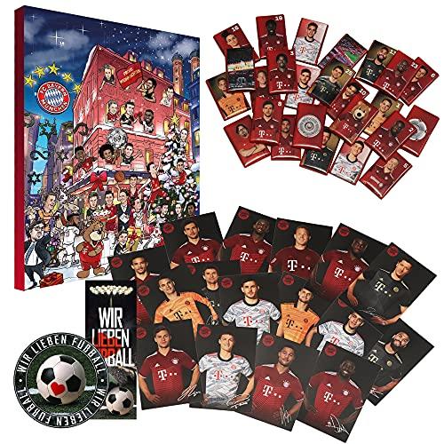 FC Bayern München Schokoladen Adventskalender inkl. Autogrammkarten & Poster FCB (L & A Wir)