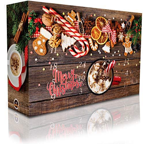 C&T Aroma Kaffee Adventskalender 2021 (Ganze Bohnen) | 24 Aromatisierte Kaffees - Flavoured Coffee | Viele leckere Sorten - Apfelstrudel, Karamell & Zimtschnecken | Weihnachtskalender für Erwachsene