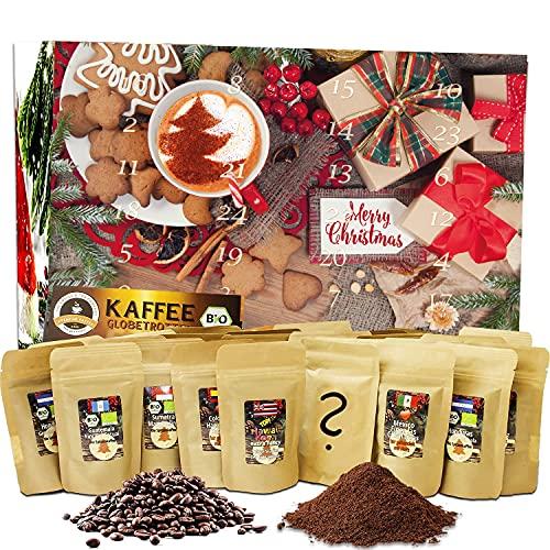 C&T Kaffee Adventskalender 2021 (Ganze Bohnen) | 24 à 20g Bio Kaffees & fair gehandelte Raritäten + Überraschung im Kalender | Weihnachtskalender Fairtrade