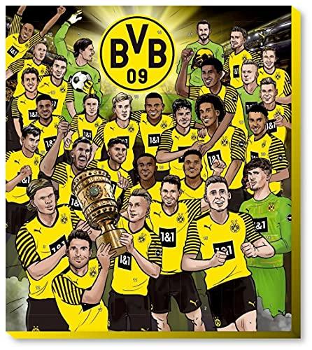 Borussia Dortmund Adventskalender 2021 BVB 09 Weihnachtskalender Weihnachten inkl. Autogrammkarten-Set (€ 9,95/100g)