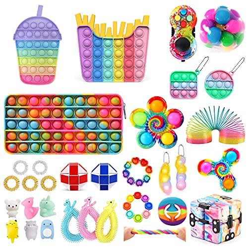 Fidget Toy, Pop Fidget It Spielzeug, Antistress Spielzeug Anxiety Fidget Toy Set, Fidget Toy Set Box für Geburtstagsfeier, Geschenke für Männer, Klassenbelohnunge Und Kinder Geschenke(Fidget Toy-5)