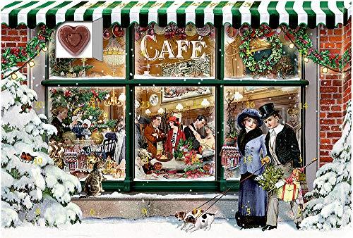 Adventskalender-Schokolade - 24 Süße Herzmomente im Advent: 2 Motive x 12 Ex. im Display